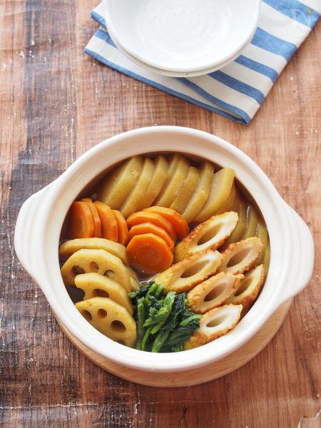 ちくわと根菜の和風カレー煮込み